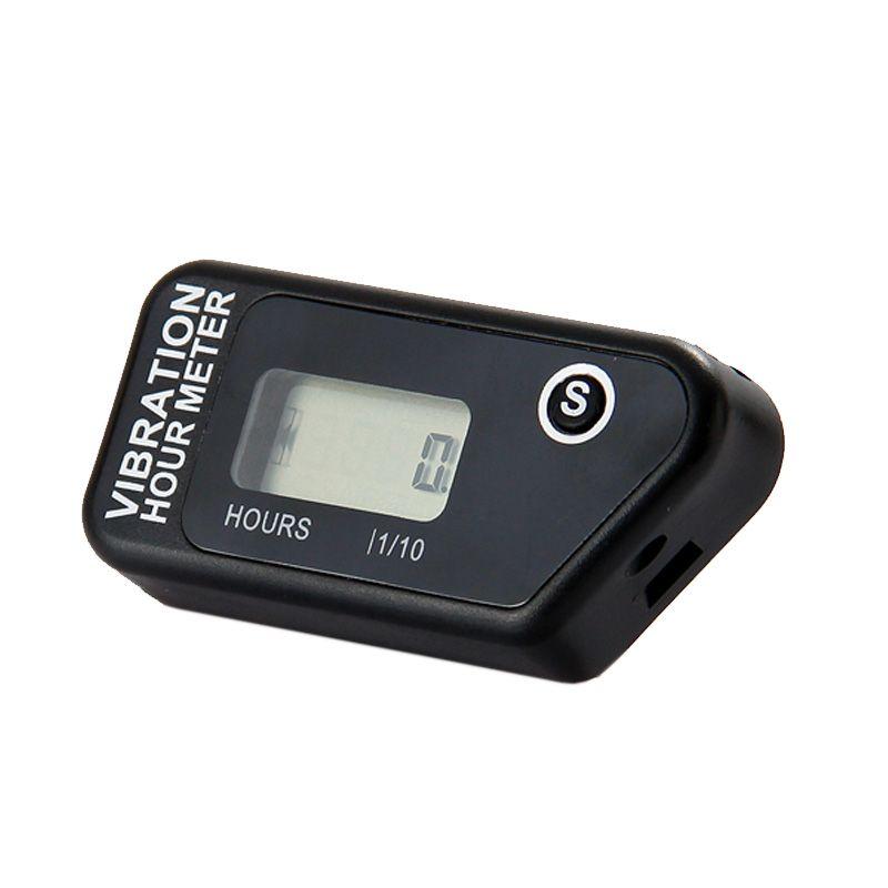 Compteur d'heure de Vibration sans fil numérique de RL-HM016B compteur réarmable pour équipement de Machine de tondeuse à gazon de moto ATV Dirt Bike