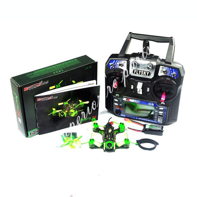 Happymodel Mantis85 85mm FPV Racing Drone w/ Supers_F4 6A BLHELI_S 5.8G 25MW 48CH 600TVL FS-I6 Transmitter RTF