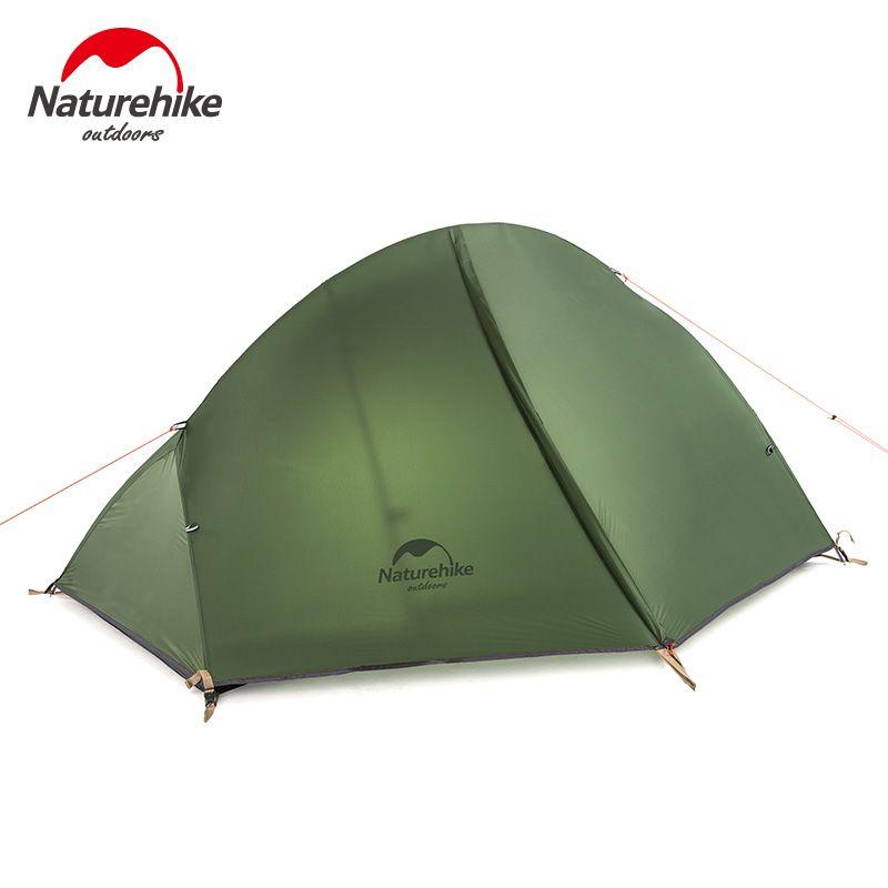 Naturehike Ultraleicht 1Person Camping Zelt Trekking Trekking Wandern Radfahren Einzelnen Zelte Wasserdichte PU4000 Green1.3KG