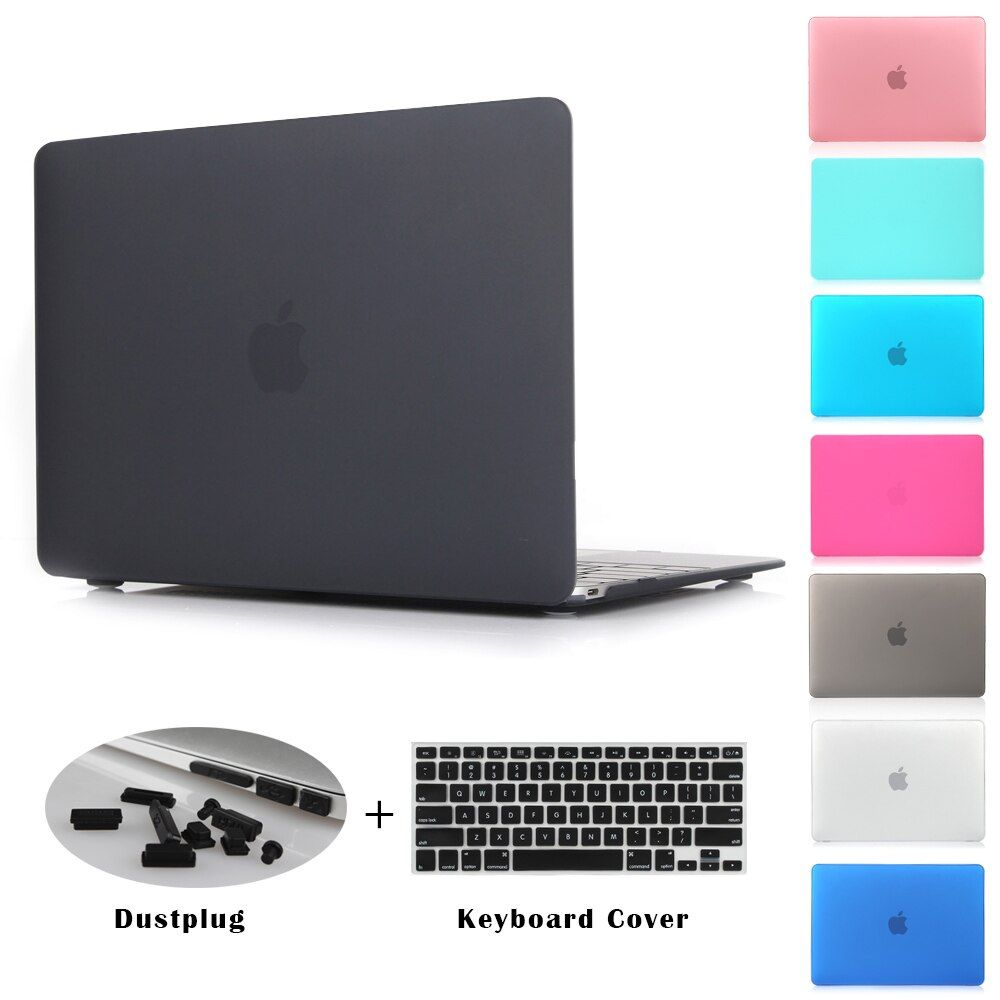 Crystal Clear Matte Gummierte Hard Case für Macbook Pro 13,3 15,4 Pro Retina 12 13 15 zoll Macbook Air 11 13 Laptop Shell
