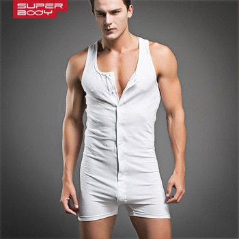Nouveau Design De Mode Mens Underwear Sexy Blanc Gris Coton Maillot Garçons Muscle Serré Body Flexible Singulet