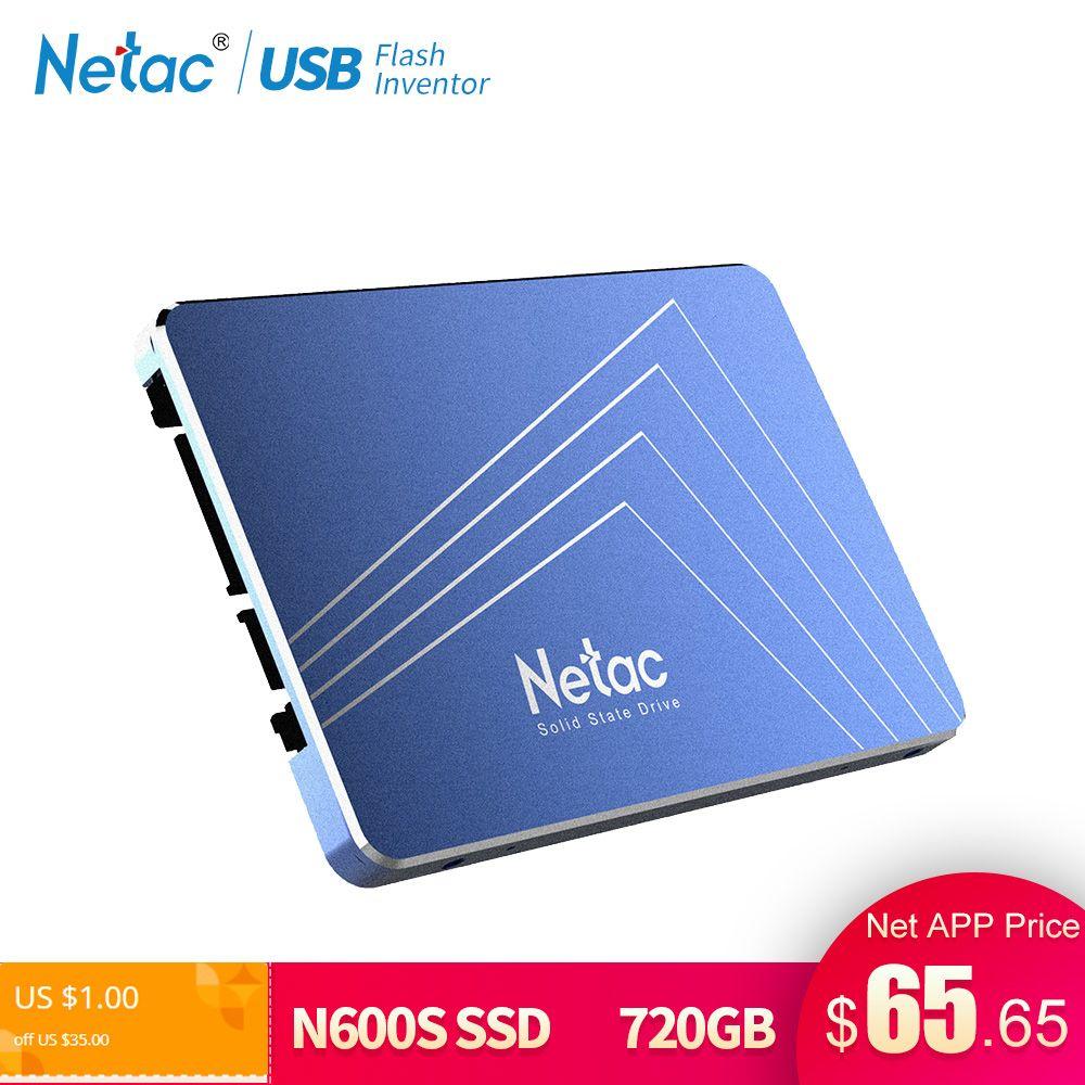Netac SSD Hard Drive 1TB SATA3 720GB 720 GB TLC Internal Solid State Drive 2.5 Laptop Drive Disk 1 TB For Notebook PC Computer