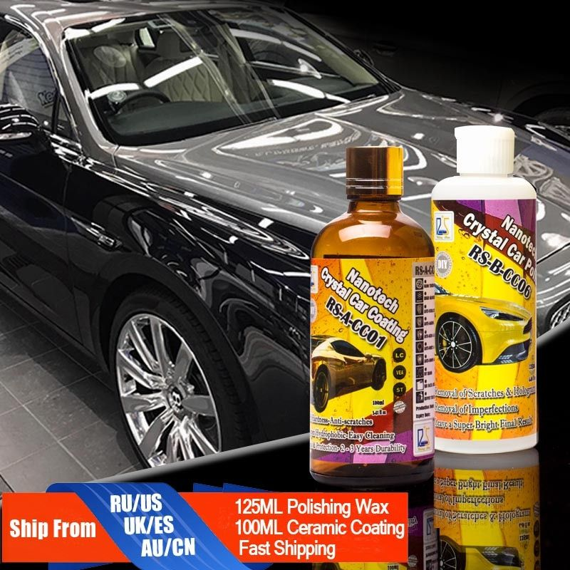Rising Star RS-CC0106 Car Polish Micro Scratches Remove+9H Liquid Glass Crystal Car Coating&Polish Paste 225ml Kit for DIY Use