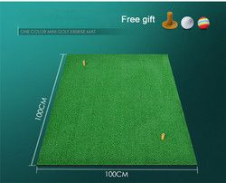 100x100x1cm Backyard Golf Mat Indoor Residential Training Hitting Pad Practice Golf Hitting Mats Rubber Tee ball free