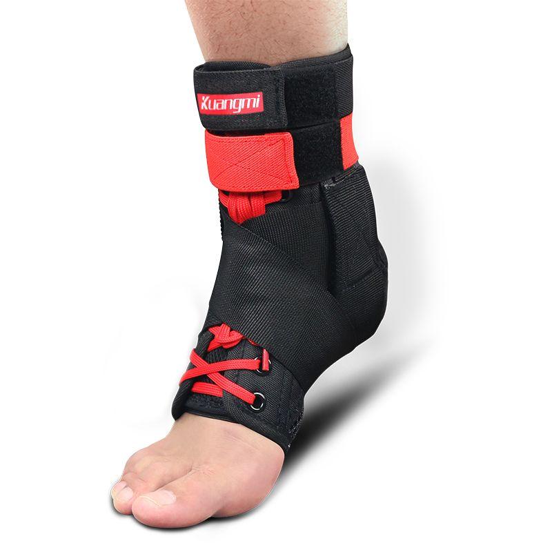 Kuangmi 1 pc Support de Cheville Brace Sport Pied Stabilisateur Réglable Cheville SockStraps Protecteur Garde De Football Entorse de La Cheville Plaquettes