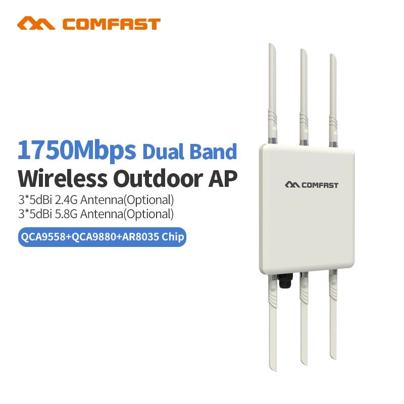 New Comfast WA900 1750M Dual Band 2.4+5.8g Wireless AP Wifi bridge 6*5Dbi Antenna outdoor Long range WI FI Access Point router