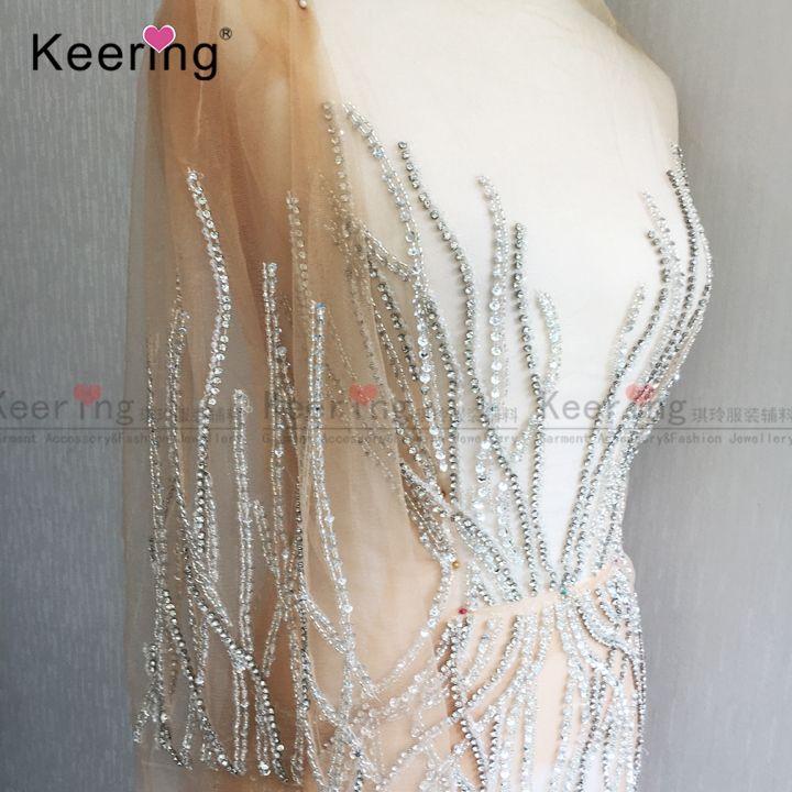 Fashion Evening dress Large Size Hand-made Rhinestone Patches WDP-035