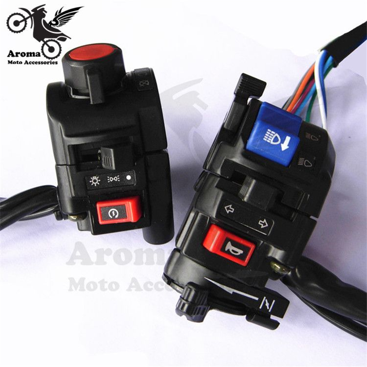 motorbike electrical System multi function controller universal motorcycle switch racing moto motocross handlebar switches mix