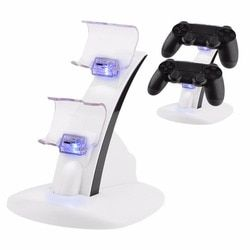 LED Micro Dual Controller Holder Charger 2 LED Micro USB Fast Charging Dock Station Stand Charger for PS4 Controller