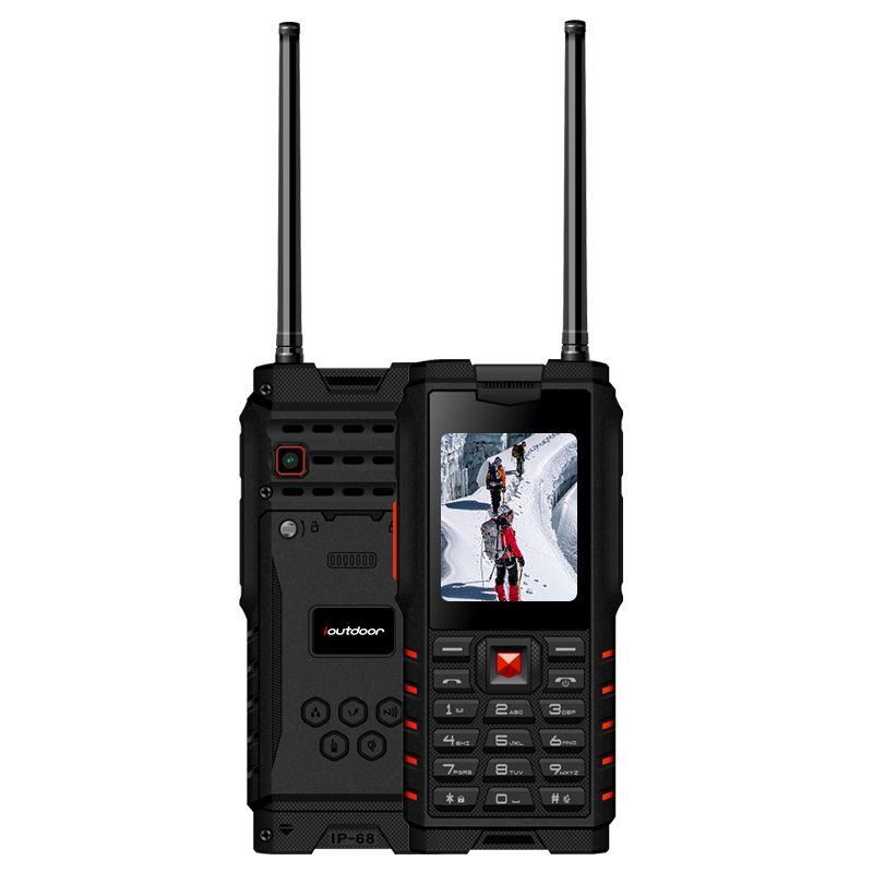ioutdoor T2 IP68 Waterproof 2.4inch 4500mAh UHF Walkie Talkie Bluetooth Dual SIM Card Rugged Phone