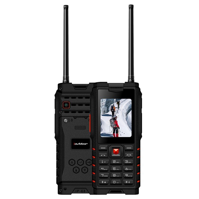 ioutdoor T2 IP68 Waterproof 2.4inch 4500mAh UHF Walkie Talkie Bluetooth Dual SIM Card Rugged Phone