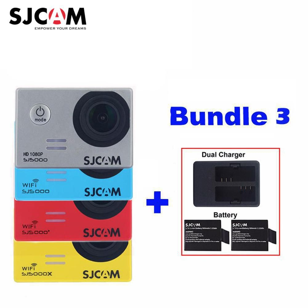 Original SJCAM SJ5000X Elite SJ5000 Plus SJ5000 WIFI SJ 5000 30M Waterproof Sports Action Camera Sjcam DVR+2Battery+Dual Charger