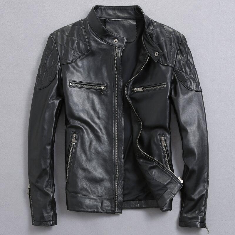 Дэвид Бекхэм натуральная кожа куртка Лидер продаж осень-зима мода Для мужчин черный Цвет Пояса из натуральной кожи куртка Для мужчин одежда...