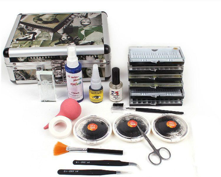 BTT-87  ro New False Eye Lashes Extension Glue  Kit Set Individual Eyelashes Salon Case Makeup Tools For Women Free Shipping