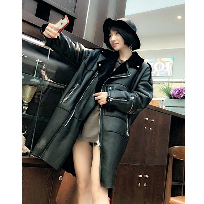 Winter 2018 Women Sheep Shearling Jacket Lamb Fur Coat Genuine Leather Jackets Shearling Jacket Plus Size Winter Jacket Women