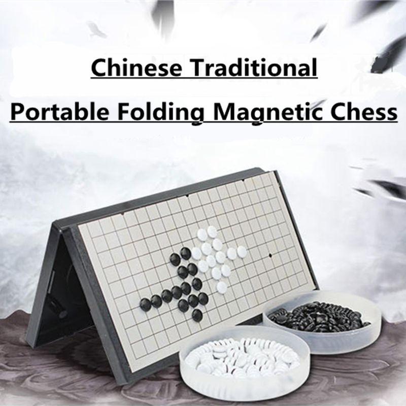 New Arrivals Folding Portable Gomoku Gobang Travel Chess Game <font><b>Board</b></font> Magnetic Baduk Magnetic ajedrez Sets Entertainment Parts