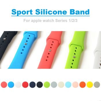 Band for apple watch Series 4 44mm 40mm Sport Silicone Watchband Replaceable Bracelet Strap for iWatch 2/ 3 42mm 38mm Watchstrap