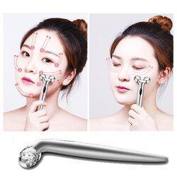 Fashion Mini Manual Roller Massager 360 Revolving 3D Full Body Shape Massager Facial Lift Crepe Y-Cylinder Massager Tool