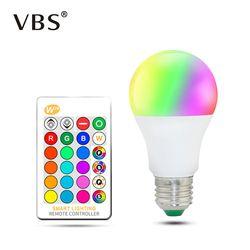 LED RGB Bohlam Lampu Ac85-265V Lampu Dimmable Sihir Liburan Pencahayaan Rgb + IR Remote Control 16 Warna 5 W 10 W 15 W