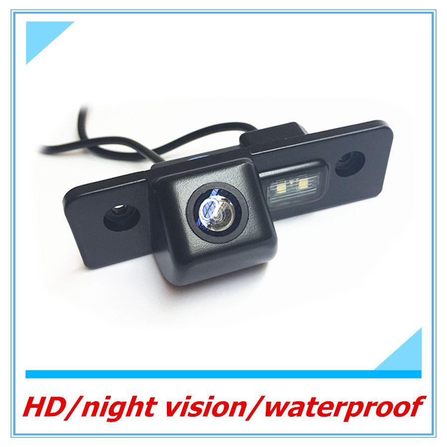 Бесплатная доставка камера заднего вида для Skoda Octavia автомобиля водонепроницаемый парктроник CCD HD автоматического резервного копирования о...