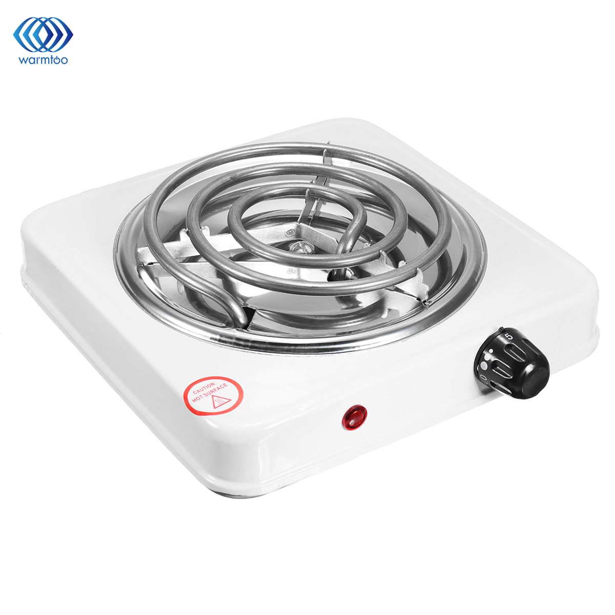Warmtoo 220V 1000W Burner Electric Stove Hot Plate Kitchen Portable Coffee Heater Design l Hotplate Cooking Appliances White