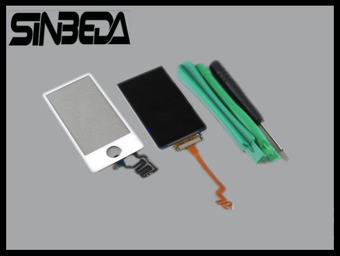 Sinbeda New LCD Touch Screen Digitizer Replacement For iPod Nano 7 LCD Display + Touch Screen Glass Digitizer Connector Flex