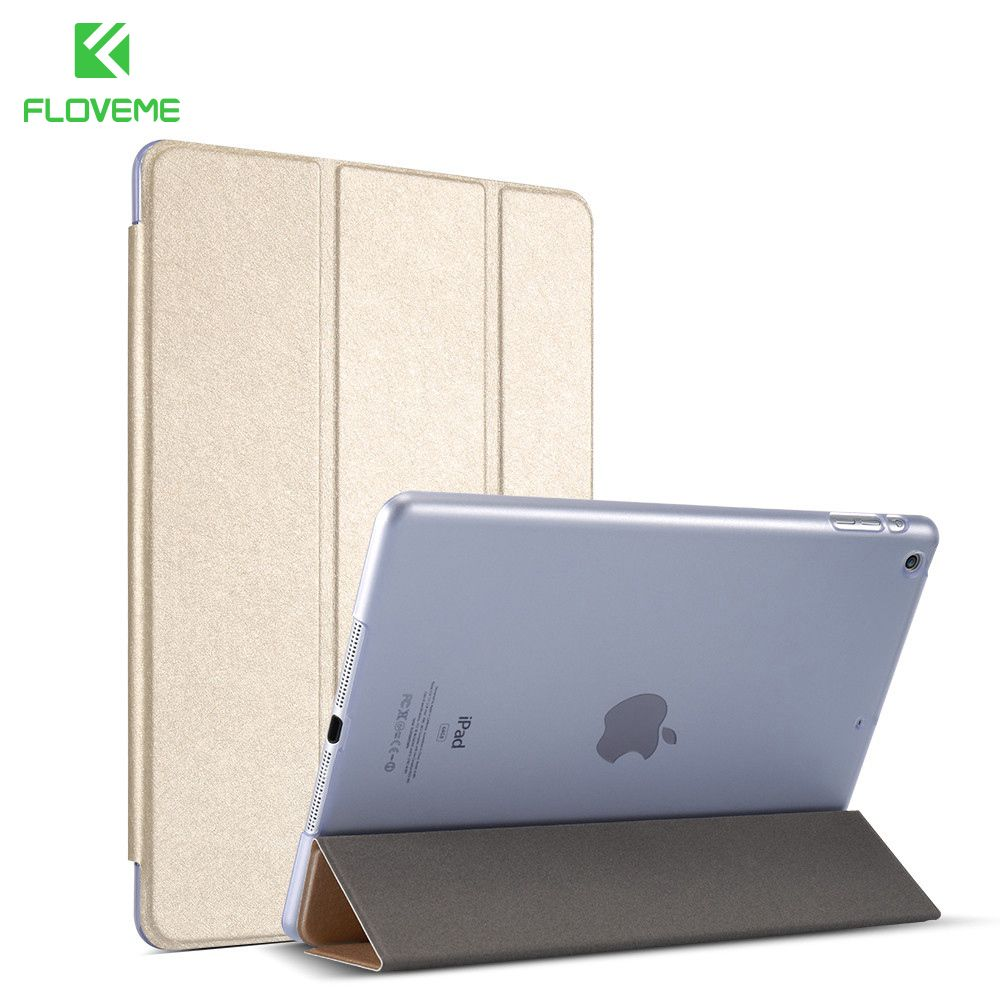 FLOVEME Für iPad Air 1 2 mini 1 2 3 4 Schutzhülle Für iPad Pro mini 9,7 Shell Silk Haut Ständer Ledertasche Für iPad Air 2 1