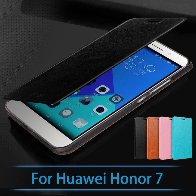 D'origine Pour Huawei Honor 7 Cas De Luxe Flip Couverture En Cuir Pour Huawei Honor 7 Flip En Cuir Stand Cas Logement De Téléphone