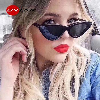 UVLAIK Модные солнцезащитные очки «кошачий глаз» Для женщин Брендовая Дизайнерская обувь Винтаж солнечные очки в стиле ретро Женская мода раб...