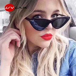 UVLAIK moda gato ojo gafas de sol mujer marca diseñador Vintage Retro gafas de sol mujer moda Cateyes Sunglass UV400 Shades