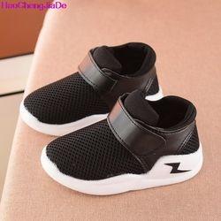 HaoChengJiaDe/Летняя дышащая детская обувь; обувь для мальчиков и девочек; модные детские кроссовки с вырезами; повседневные Мягкие кроссовки для ...