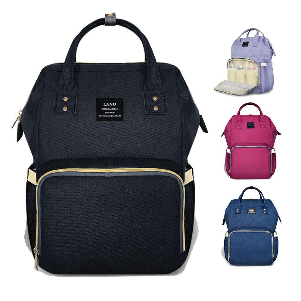 LAND Maternity Diaper Bag Mommy Nursing Bag For Baby Care Large Capacity Fashion Travel Backpack Mother Kid Stroller Handbag