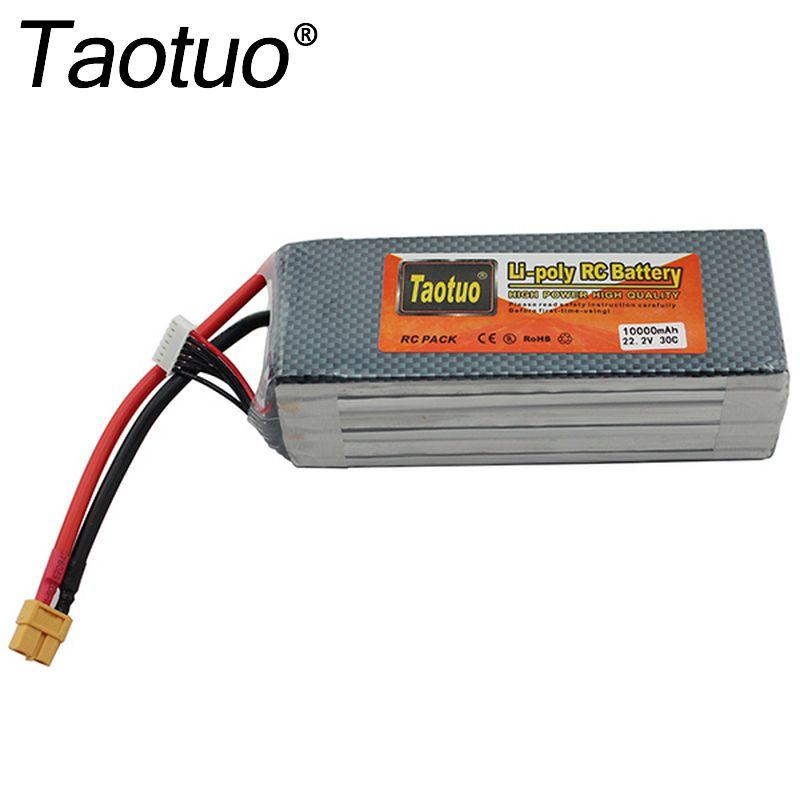 Taotuo 22.2 V 10000 mAh li-polymère Lipo batterie 6 S 30C XT60 pour DJI Phantom S900 S1000 RC quadrirotor FPV pièces Bateria