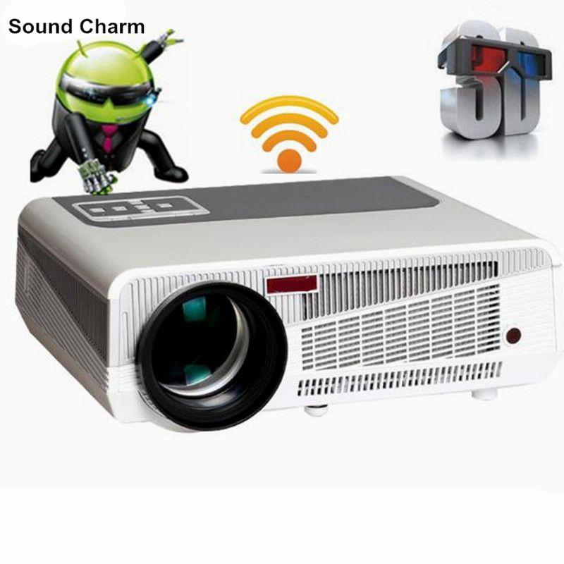 Neueste 5500 lumen Android4.4 HD LED Wifi Smart Projektor 230 watt 3D heimkino LCD Video Proyector TV Beamer mit bluetooth 4,0