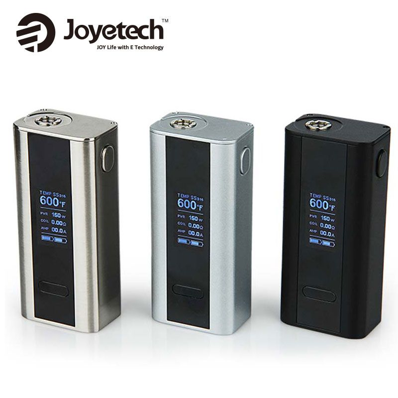 100% original joyetech cuboid 150w TC VW MOD Temp control powered by 2x18650 Battery without battery fit Joyetech Cubis
