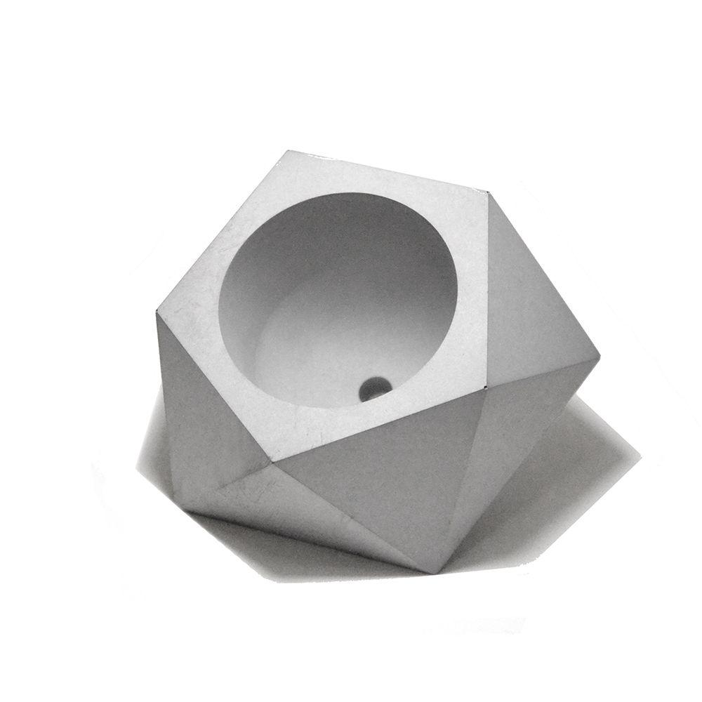 Geometric flower pots Reusable silicone concrete molds 3d Vase Molds cement planter mold potting succulents plants geometry pots