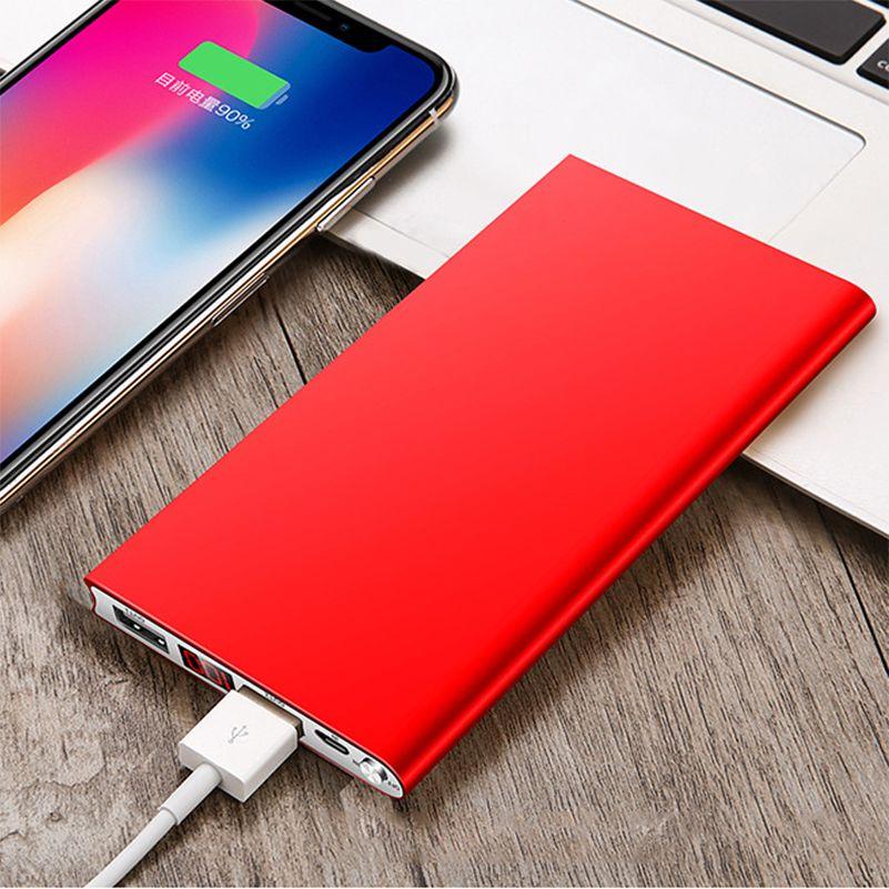 Nouveau Portable Ultra-mince polymère 20000 mAh batterie externe appauvrbank double Ports USB chargeur de batterie externe pour téléphones mobiles tablettes
