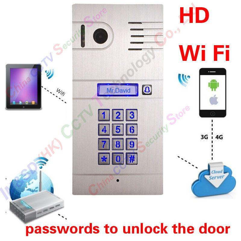 Heiße Neue 3G 4G/WiFi IP intercom system zwei gegensprech und remote entsperren tür, globale video-türsprech Code Tastatur