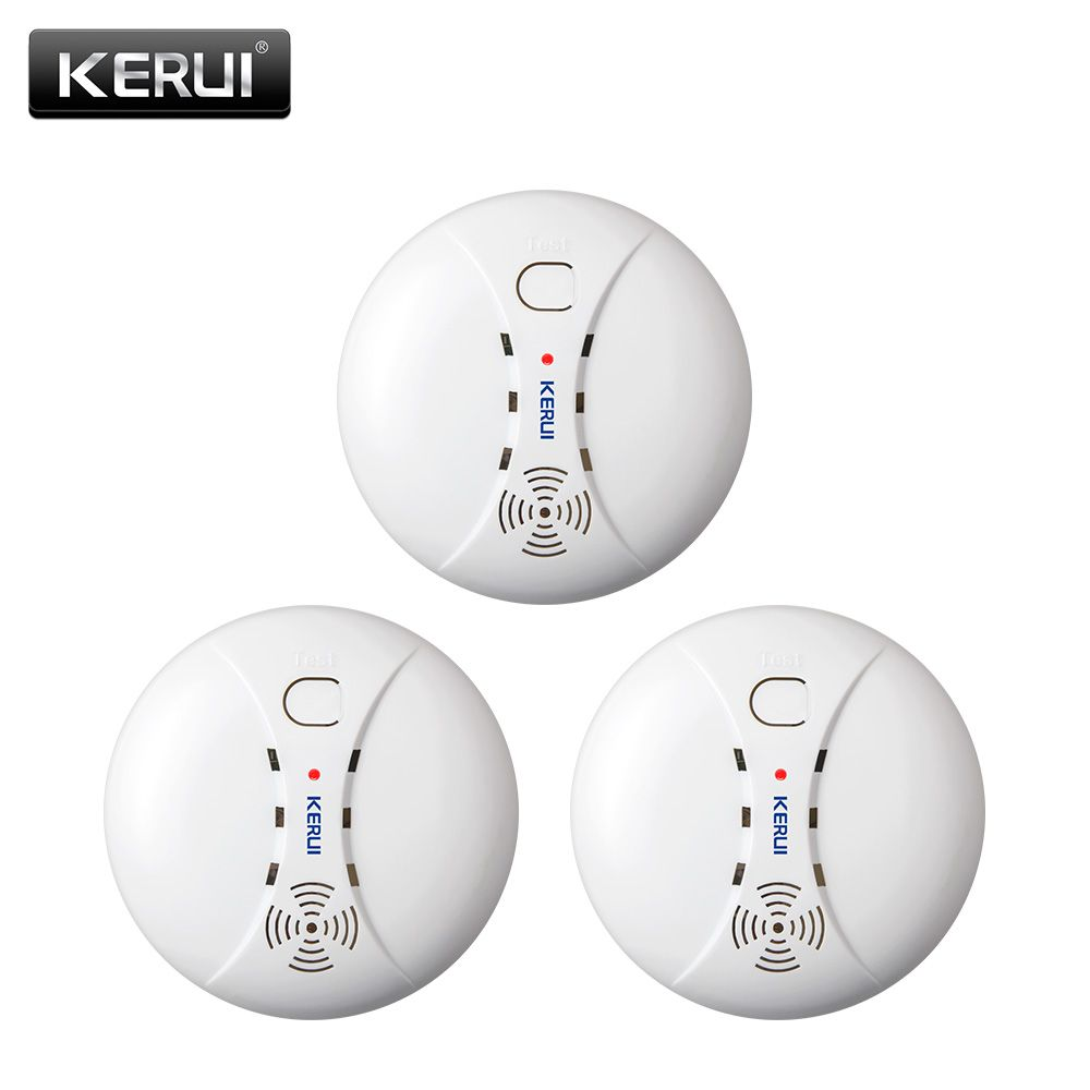 KERUI 3pcs 433MHZ Home Kitchen Security Wireless Fire Smoke Detector Smoke Sensor Alarm For GSM Wifi Alarm System