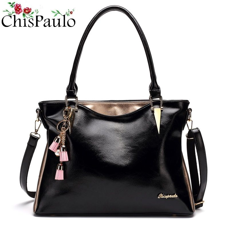Famous Luxury Brand Designer Women's Genuine Leather Handbags High Quality Crossbody Bags For Women 2018 Shoulder Chain Bags T13