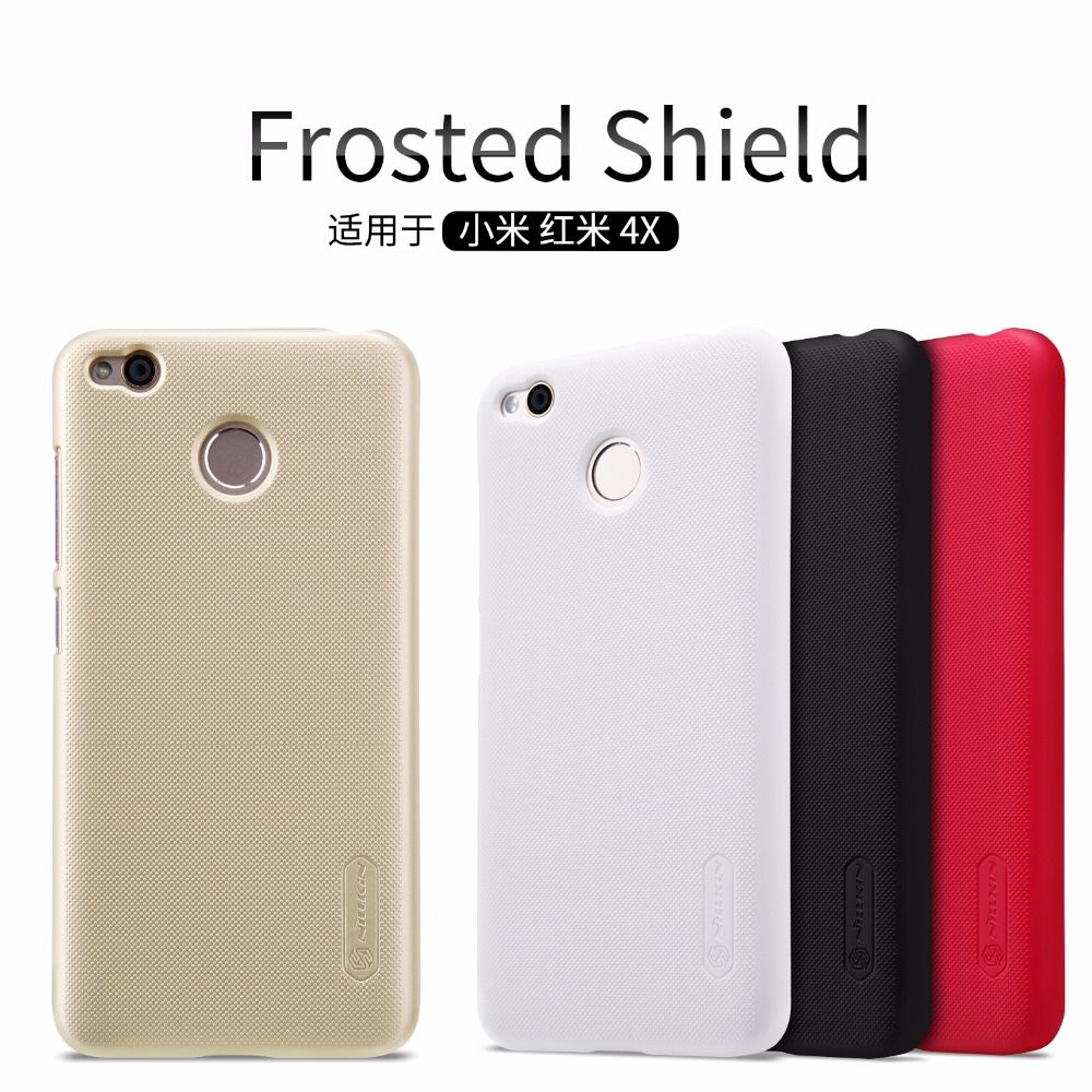 10pcs/lot Wholesale NILLKIN Super Frosted Shield Case For Xiaomi Redmi 4X (5.0 inch) PC Plastic Back Cover With Screen Protector