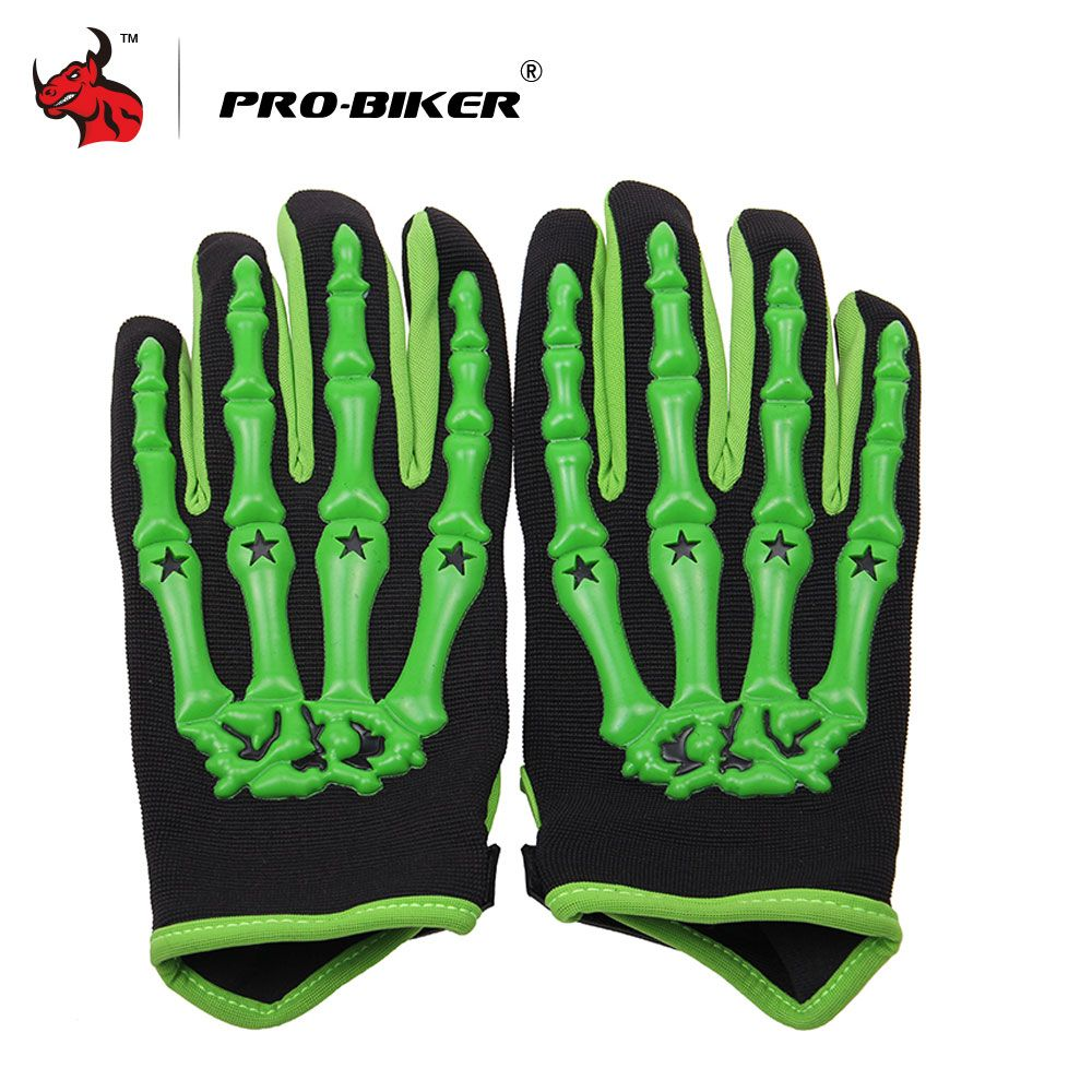 PRO-BIKER Skull Style Motorcycle Gloves Motorcycle Riding Gloves MTB Bike Bicycle Cycling Full Finger Gloves Luva Moto Gloves