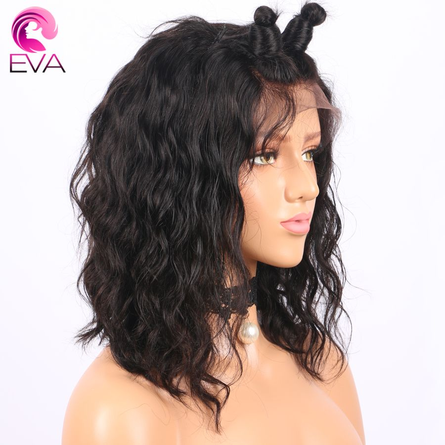 Short Lace Front Human Hair Wigs With Baby Hair Pre Plucked Hairline Brazilian Remy Bob Wig 10