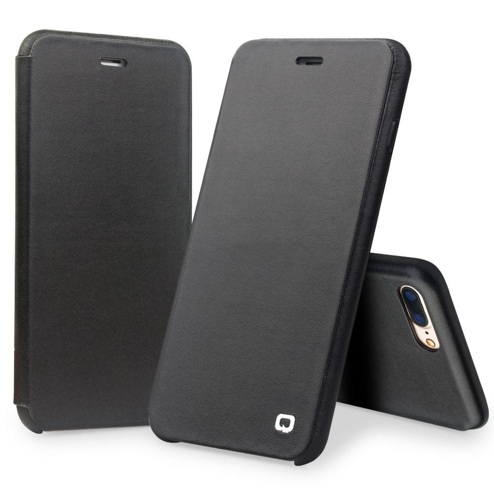 QIALINO Fall für iPhone 7 4,7 Luxus Echtem Leder Flip Folio Öffnung Abdeckung für iphone 7 mit Versteckten Magnetverschluss