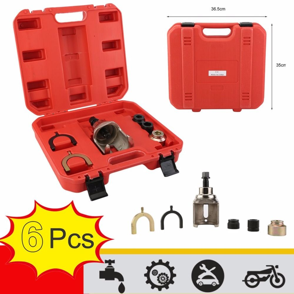 6Pcs Vehicles Cars Auto Ball Joint Puller Dismantling Puller Separator Joint Removal Tool For VW T4 With Carry Case High Quality