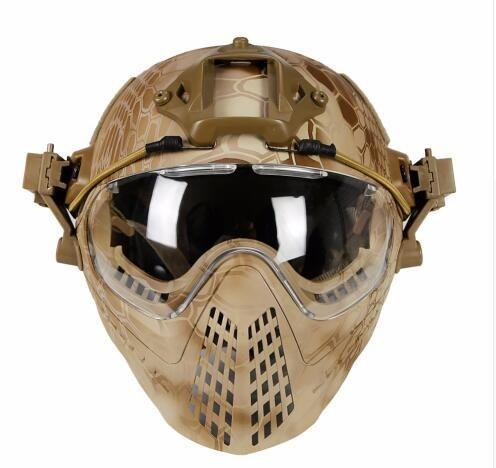 Taktische helm mit Maske Military Airsoft Armee WarGame Motorrad Radfahren Jagd Reiten Outdoor-aktivitäten