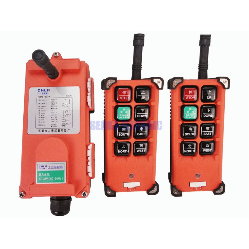 2 Transmitter and 1 Receiver Radio Crane Hoist Industrial Wireless Remote Control COB-63YK