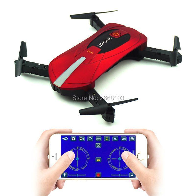 Portable JY018 Mini Selfie Drone Foldable Helicopter Pocket Folding <font><b>Altitude</b></font> Hold Headless WIFI FPV Camera RC Quadcopter VS H31