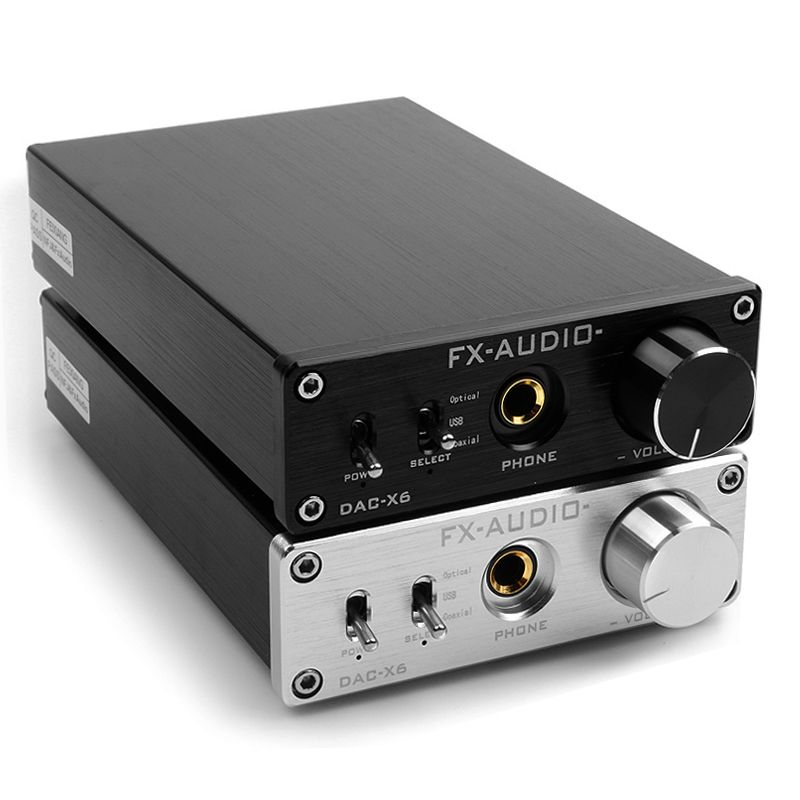 Fx-audio 2.0 DAC-X6 fever HiFi amp USB Fiber Coaxial Digital Audio Decoder DAC 16BIT / 192 amplifier TPA6120 Free shipping