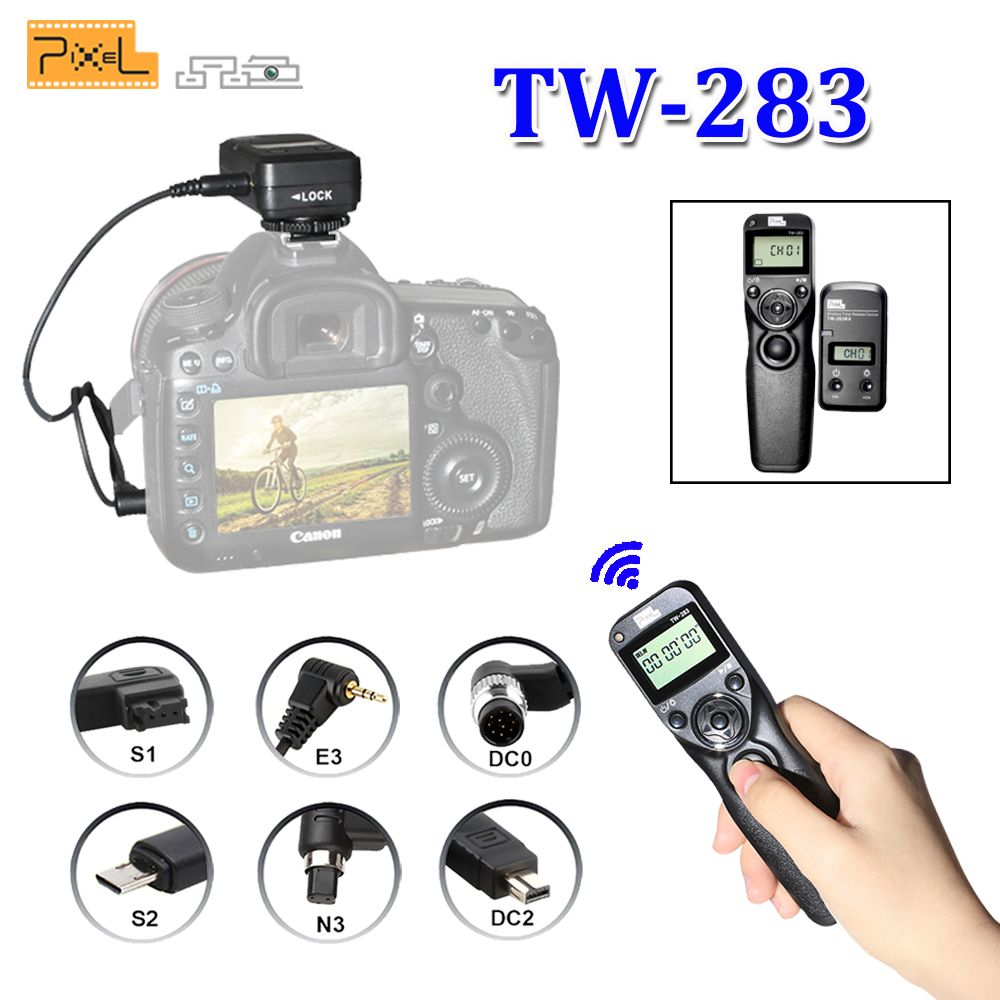 <font><b>Pixel</b></font> TW-283 TW283 For Canon Nikon D3100 D7100 D7000 D5100 D5000 Sony Camera Wireless Timer Remote Shutter Release Control Cable
